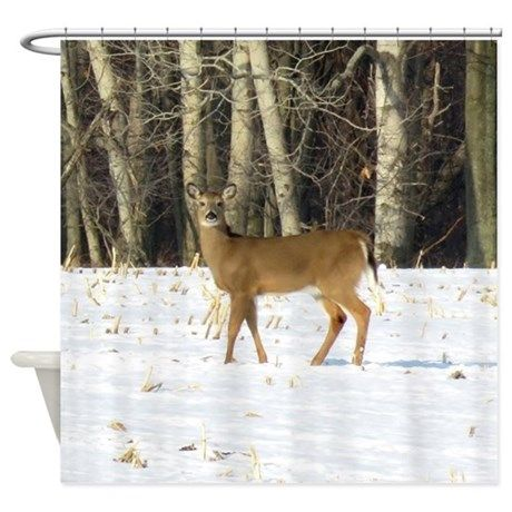 Whitetail Deer Shower Curtain On CafePress