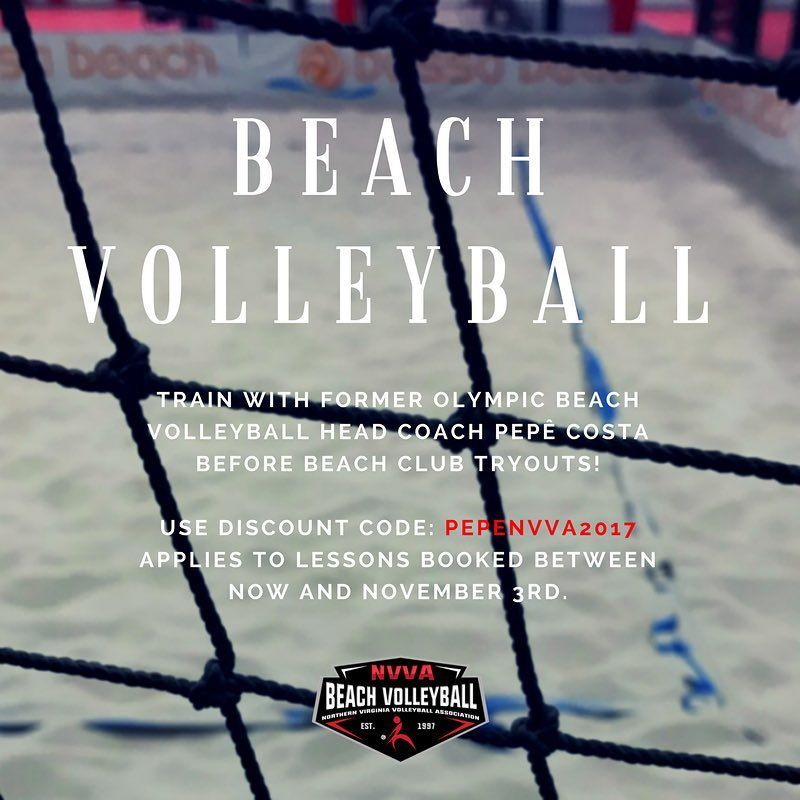 Lessons With Bossa Beach Club Head Coach Pepe Costa Are 30 Off Before Tryouts Use Discount Code Pepenvva2017 When In 2020 Beach Club Private Lessons Beach Volleyball