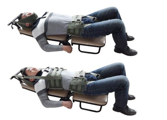 171 04 Tracción Cama De Hernia De Disco Lumbar Stretch Tratamiento Tirar Dolor Lumbar Doméstico Médico Cervical Y Lumbar Retractor Lumbar Body Massage Massage Hernia De Disco Lumbar Lumbares Hernias De Disco