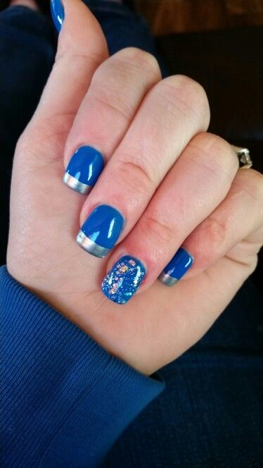 Detroit Lions Acrylic Nails Stylish In 2018 Pinterest Lion And Nail Art