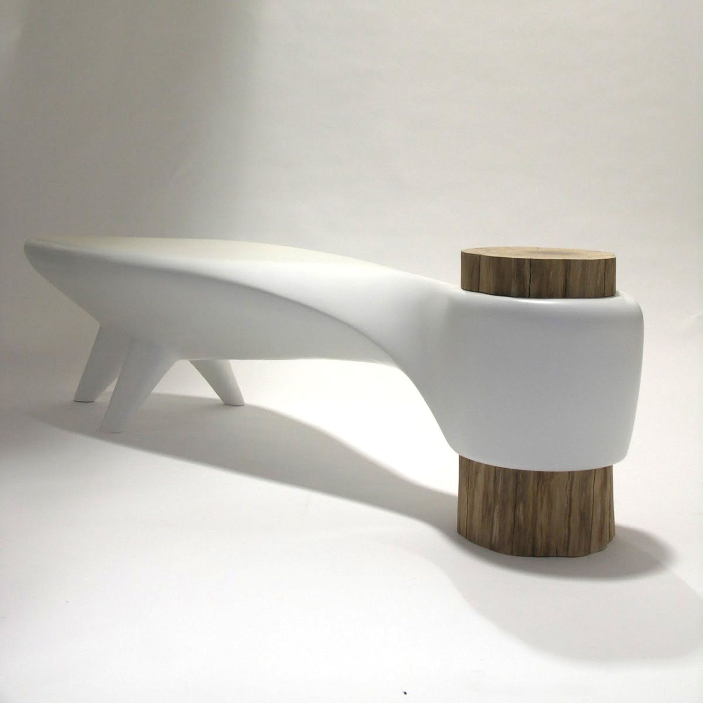 Organic Modern Furniture The Akene Bench Is Stunning With Futuristic Organic Design Thats