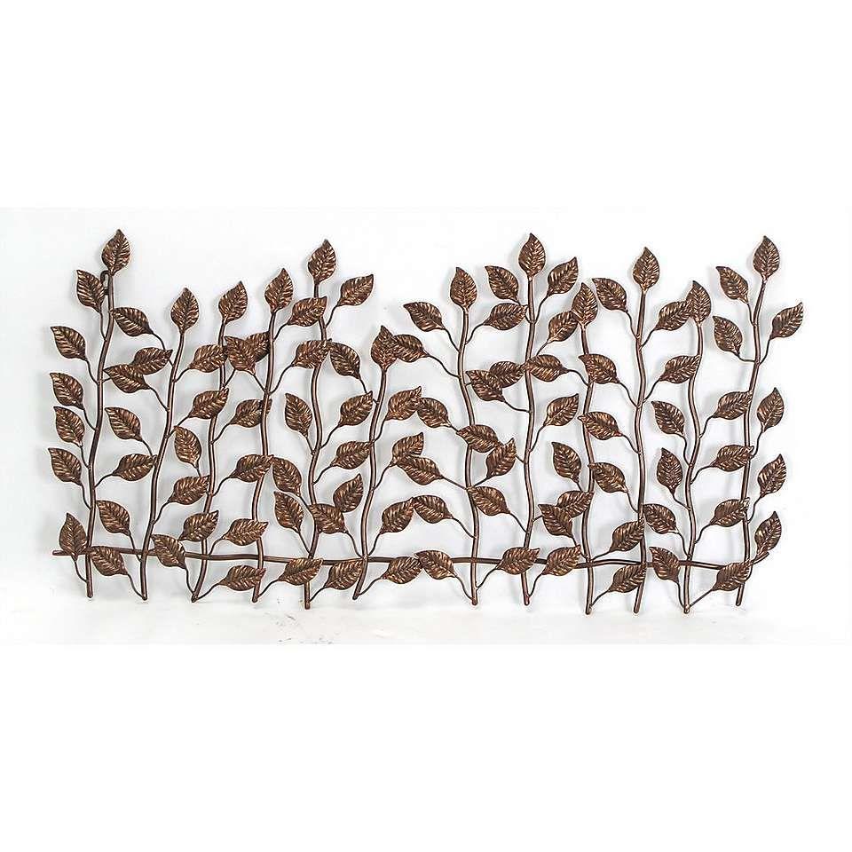 Leaf metal wall art dunelm