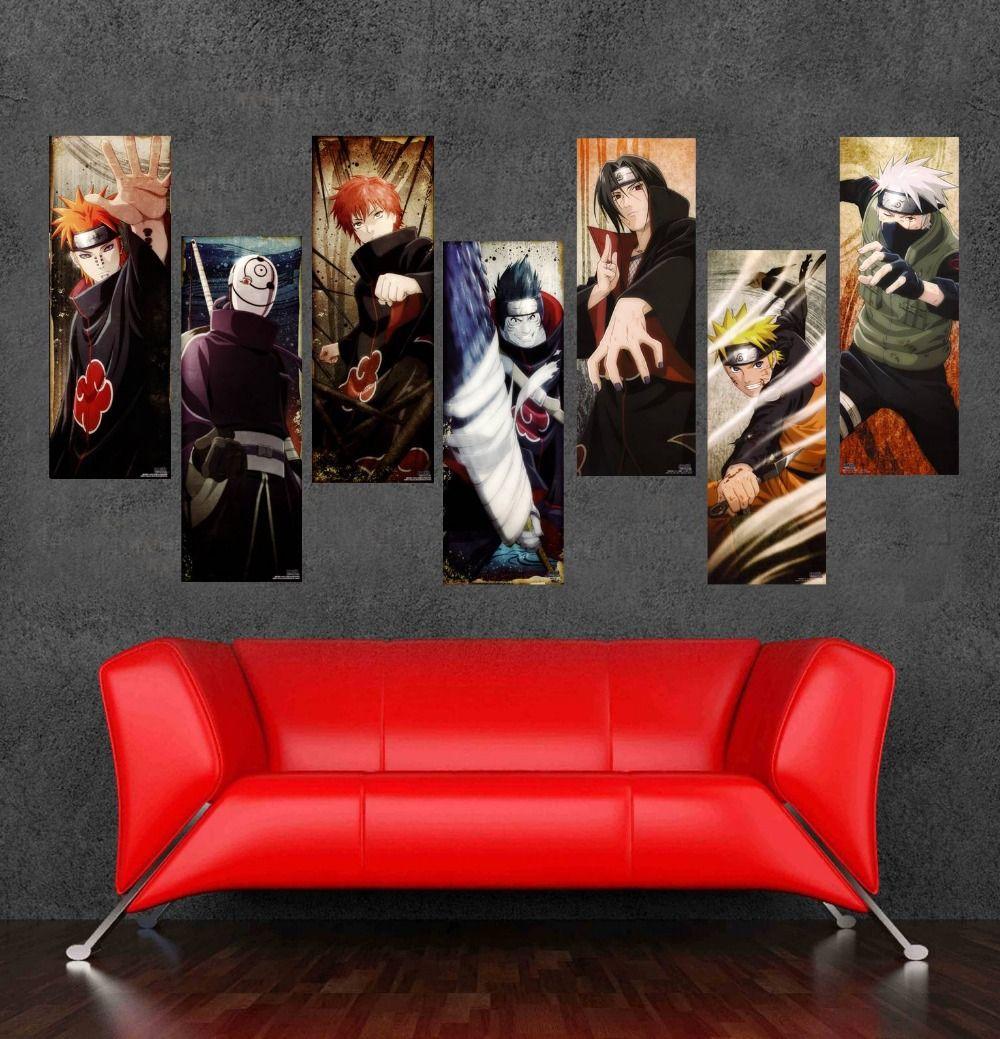 Enorme etiqueta de la pared japonesa de dibujos animados - Posters para pared ...