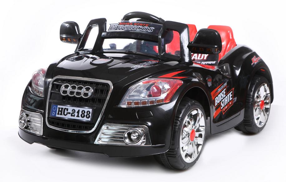 Auto Elettriche Bambini Audi Roadster Decapottabile Nera Colore Nero