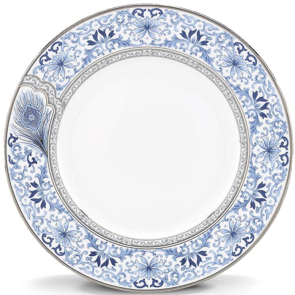 Sapphire Plume Dinner Plate Fine China Patterns Fine China Dinnerware Dinner Plates
