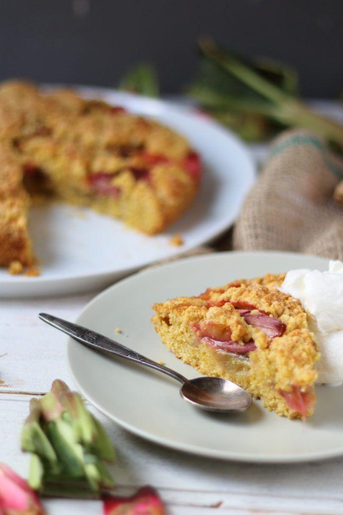 Rhabarberkuchen mit Polenta | Süß oder Salzig