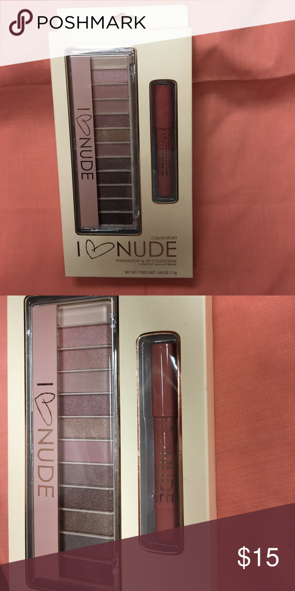 Eyeshadow And Lipstick I Love Nude Eyeshadow And Lip Collection By
