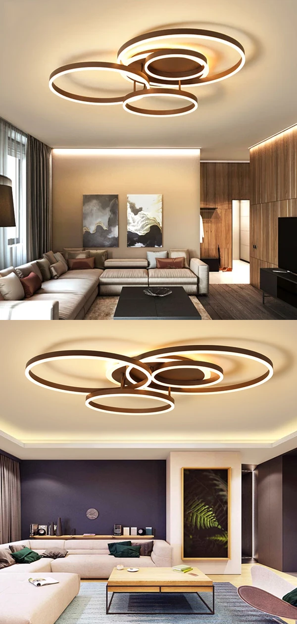 Surface Mounted Modern Led Ceiling Light For Living Room Bedroom Dining Room White Coffee Lustre Chandelier Ceiling Lamp Fixture In 2020 Modern Led Ceiling Lights Ceiling Lights Led Ceiling