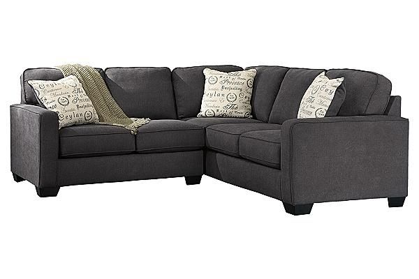 Sofas Alenya 2 Piece Sectional, Gray Sectional Couch Ashley Furniture