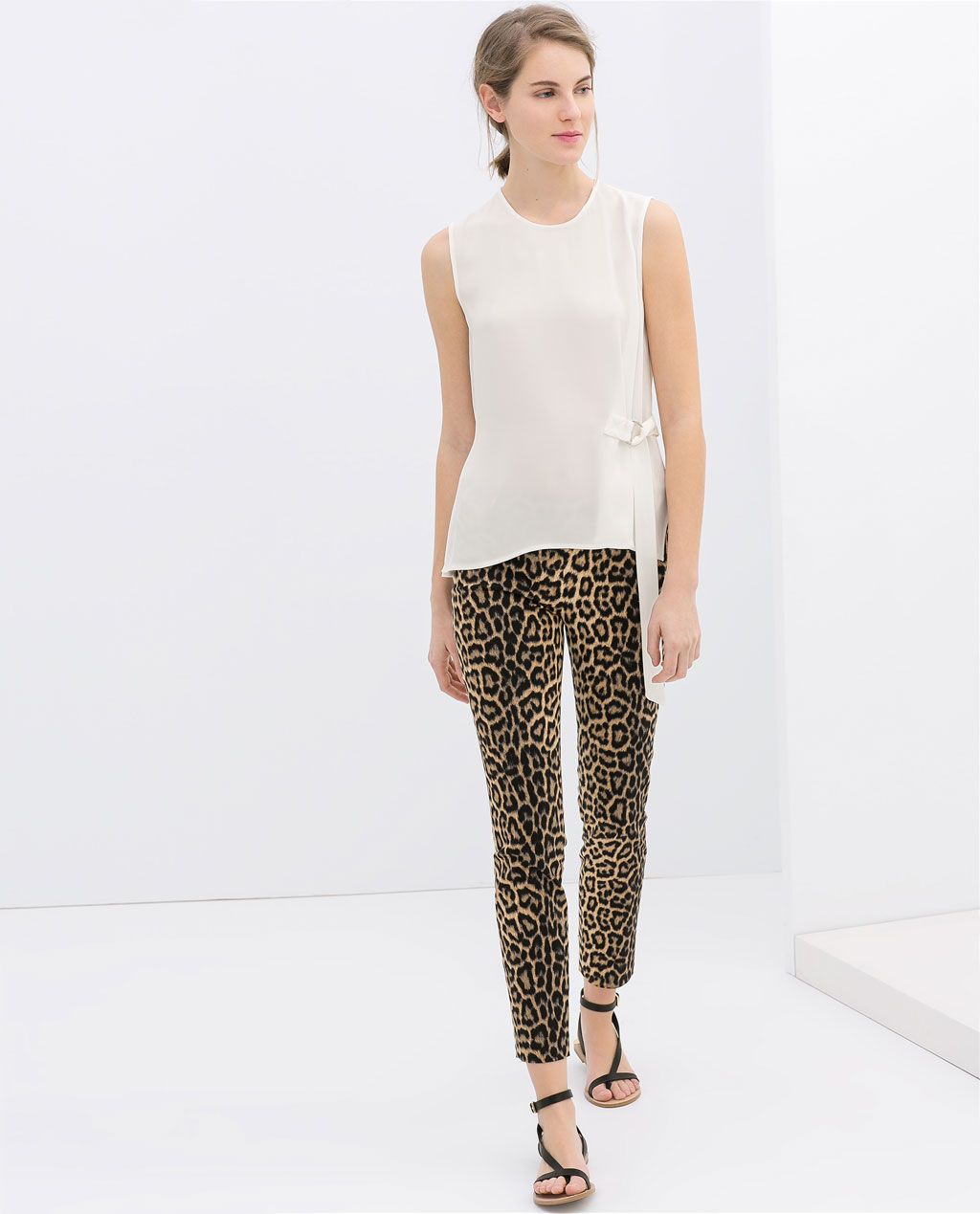 Zara leopard pants Reposh, bought them thinking they would fit but too  small for me, NWOT, never worn Zara Pants Skinny