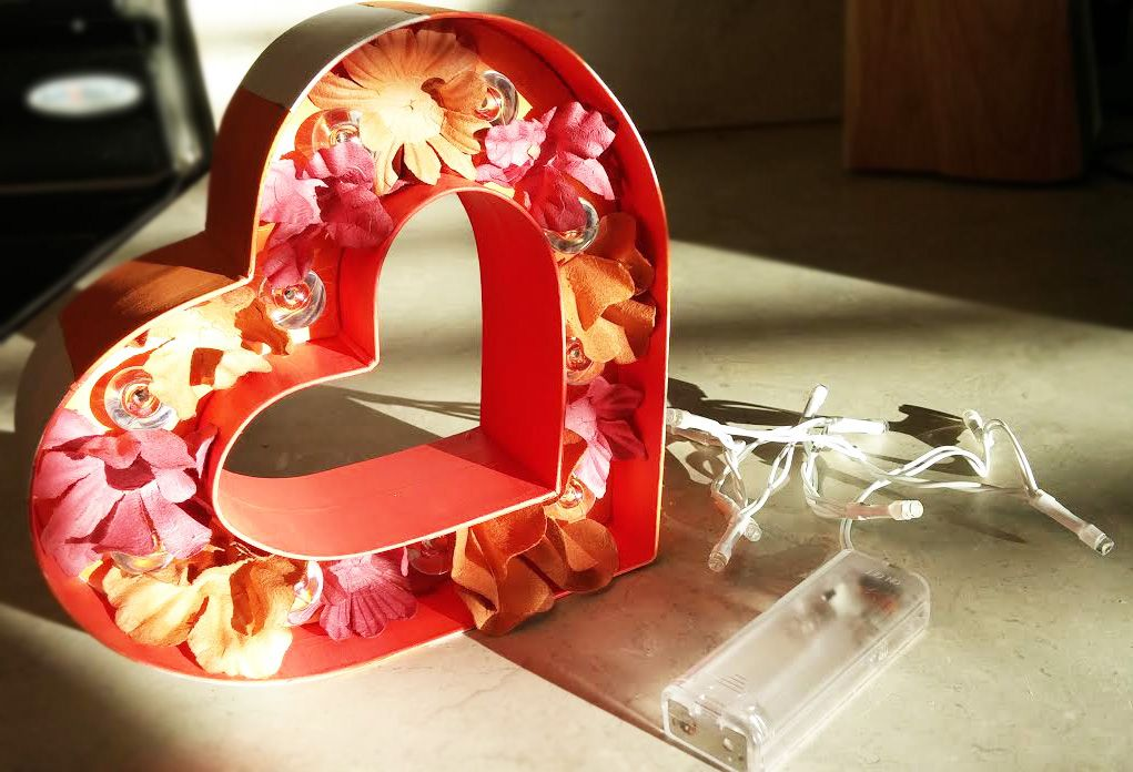 Custom Heart Marquee! Yes, it lights up! Get one today!