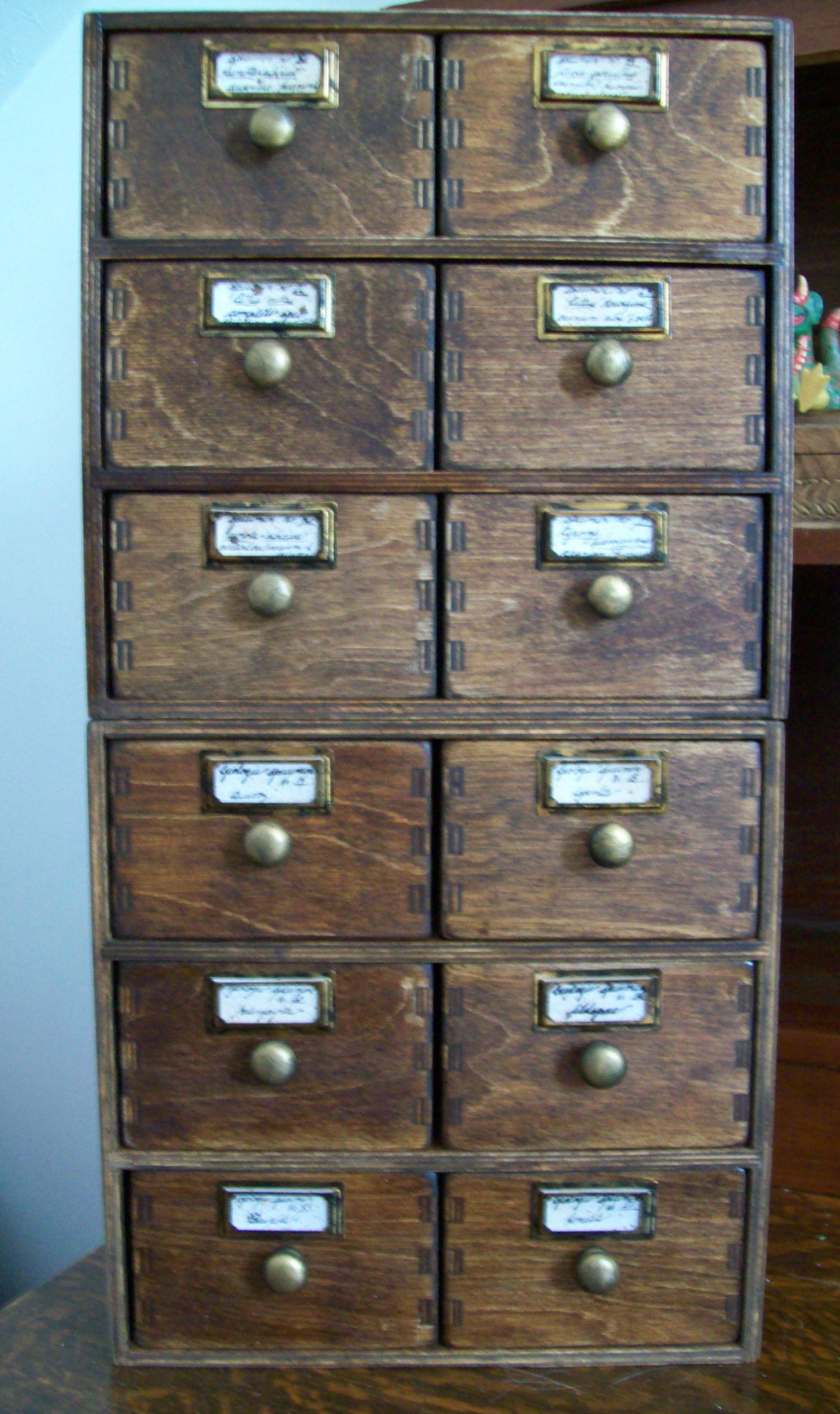 Ikea Drawered Bo Into Faux Antique Specimen Or Cabinets