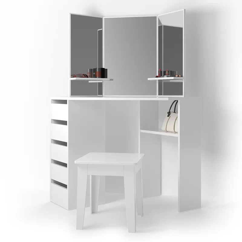 Russellville Dressing Table With Mirror In 2020 Dressing Table Vanity French Style Bedside Tables Dressing Table Mirror