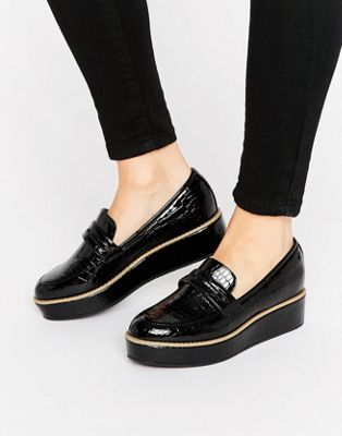 ASOS MORE TIME Flatform Loafers