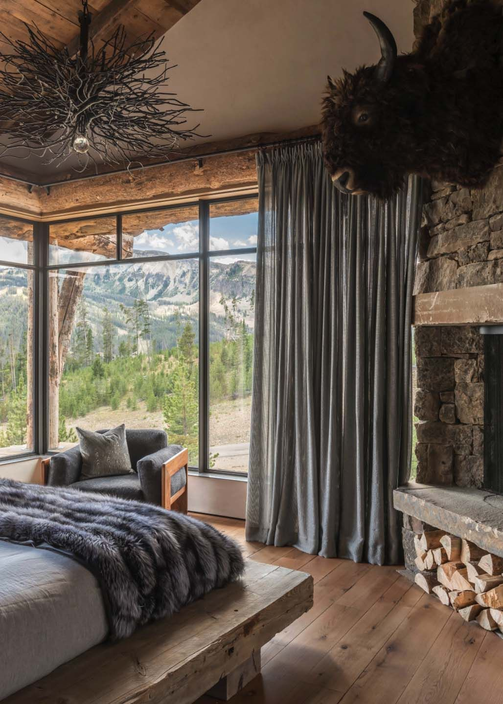 Schlafzimmer Modern Rustikal Rustic Chic Mountain Home In The Rocky Mountain Foothills Future