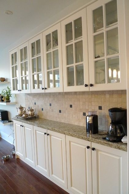 Shallow Base Cabinets Kitchen Traditional With None