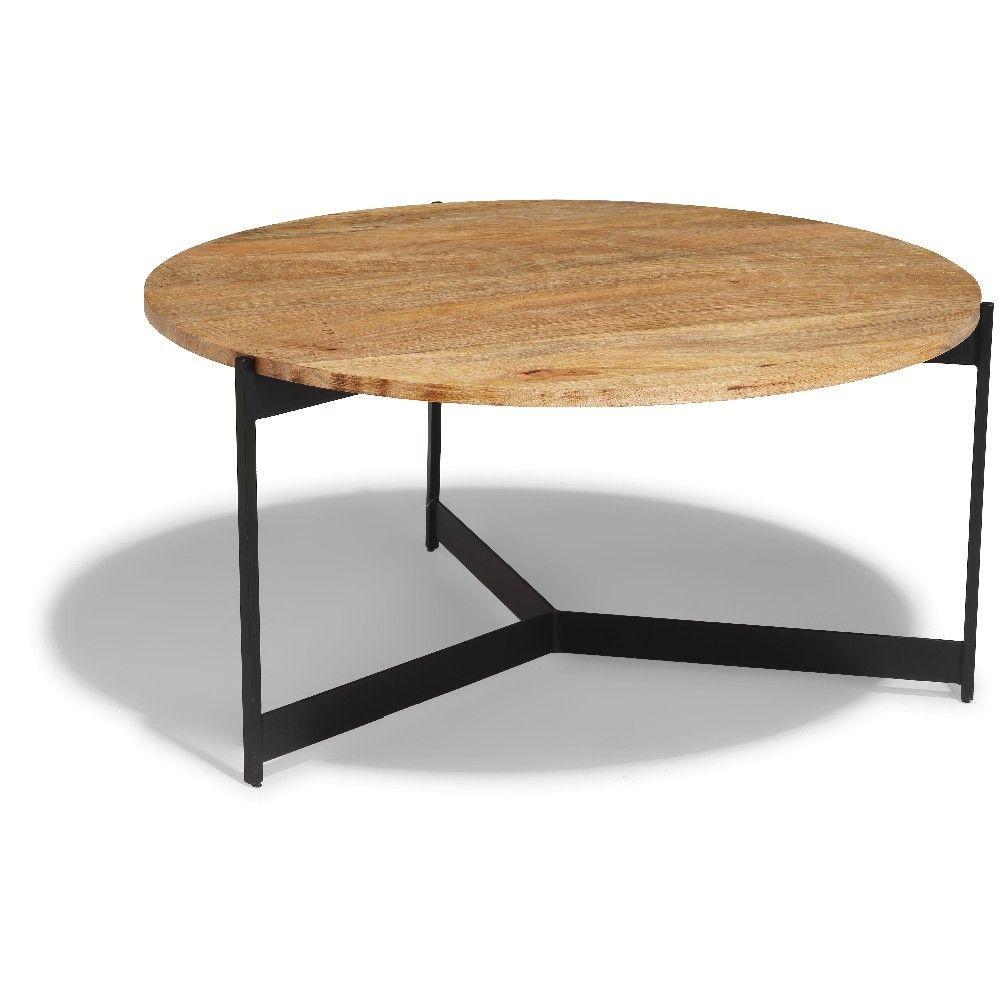 Table Basse Jolly Noire Et Bois Clair Table Basse Et D Appoint Salon Meuble Gifi Table Basse Meuble Gifi Bois