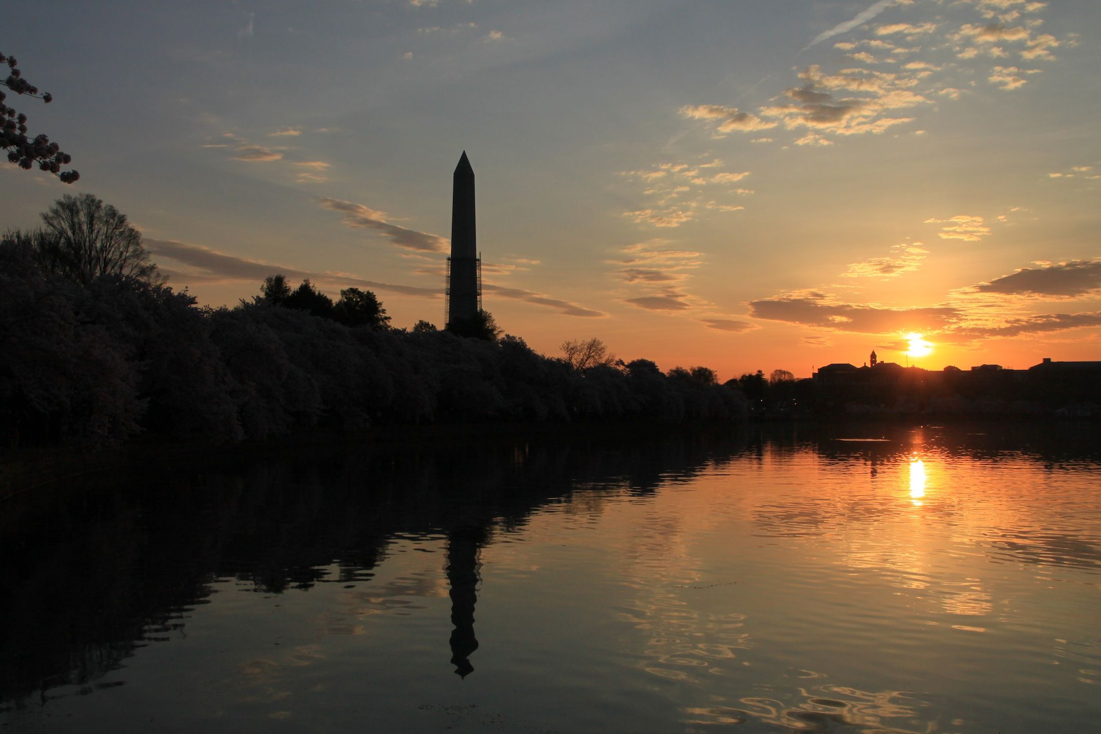 Early morning over the Tidal Basin in Washington DC