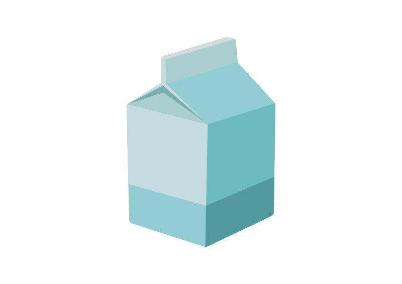Flat Milk Carton Vector Illustration | flat vectors in 2018 ...