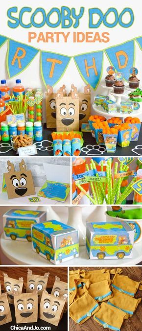 Scooby Doo birthday party ideas and printables | Chica and Jo