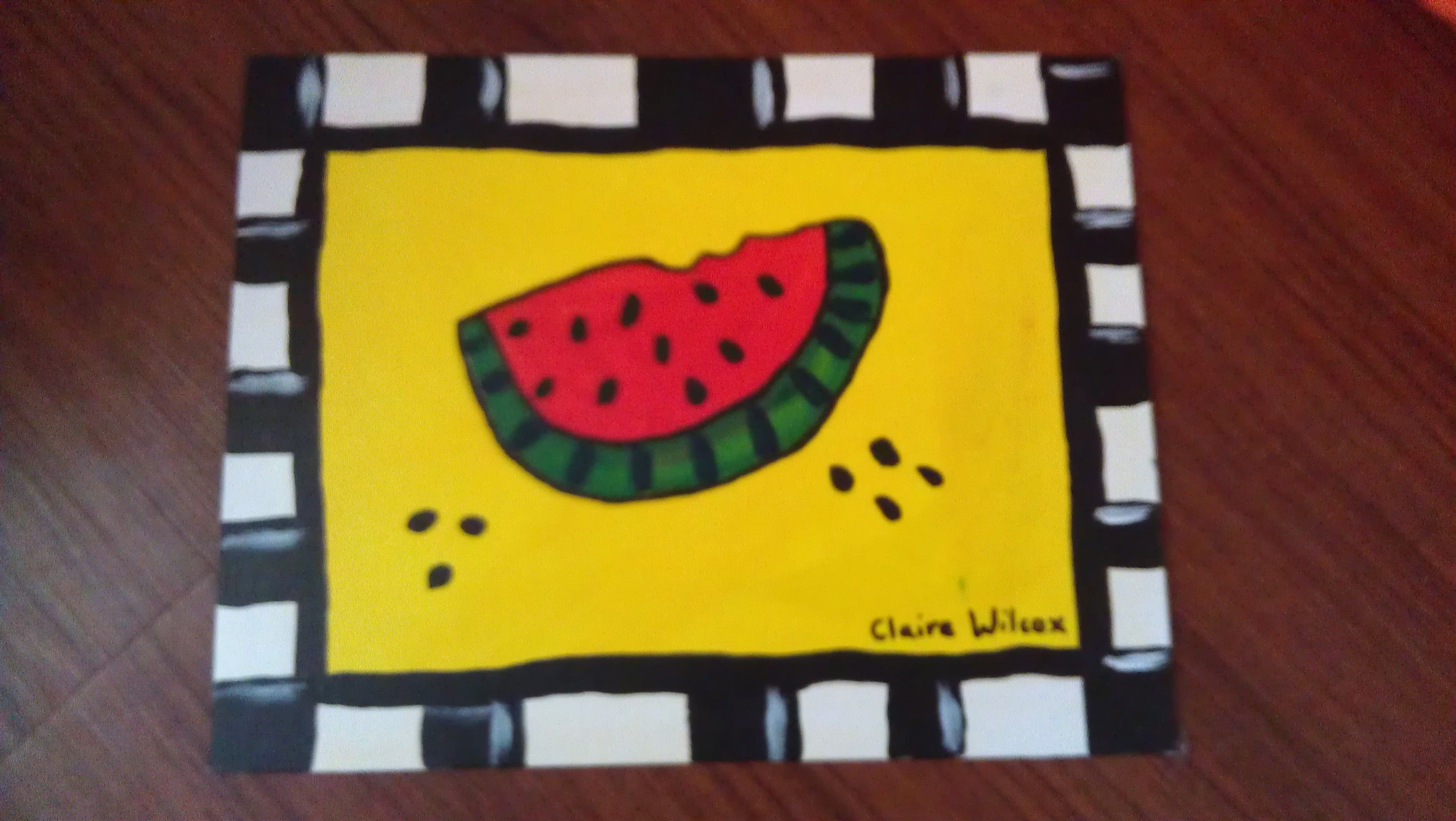 Water melon painting