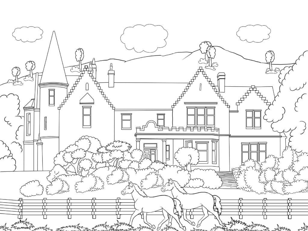 Scenery Coloring Pages For Adults Coloring Pages Nature