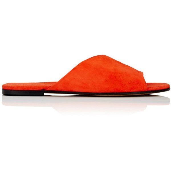 Womens Asymmetric Suede Slide Sandals Alumnae pNCMOw