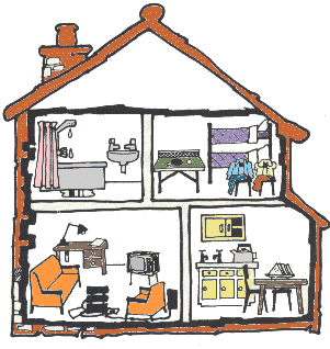 Rooms in a house vocabulary | ANGLAIS | Pinterest ...