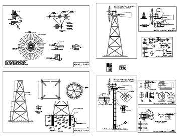 DIY: Windmill Plans Drawings  The windmill can be used as an aerator