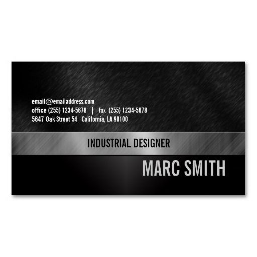 Brushed metal print business card two sided brushed metal brushed metal print business card two sided reheart Images