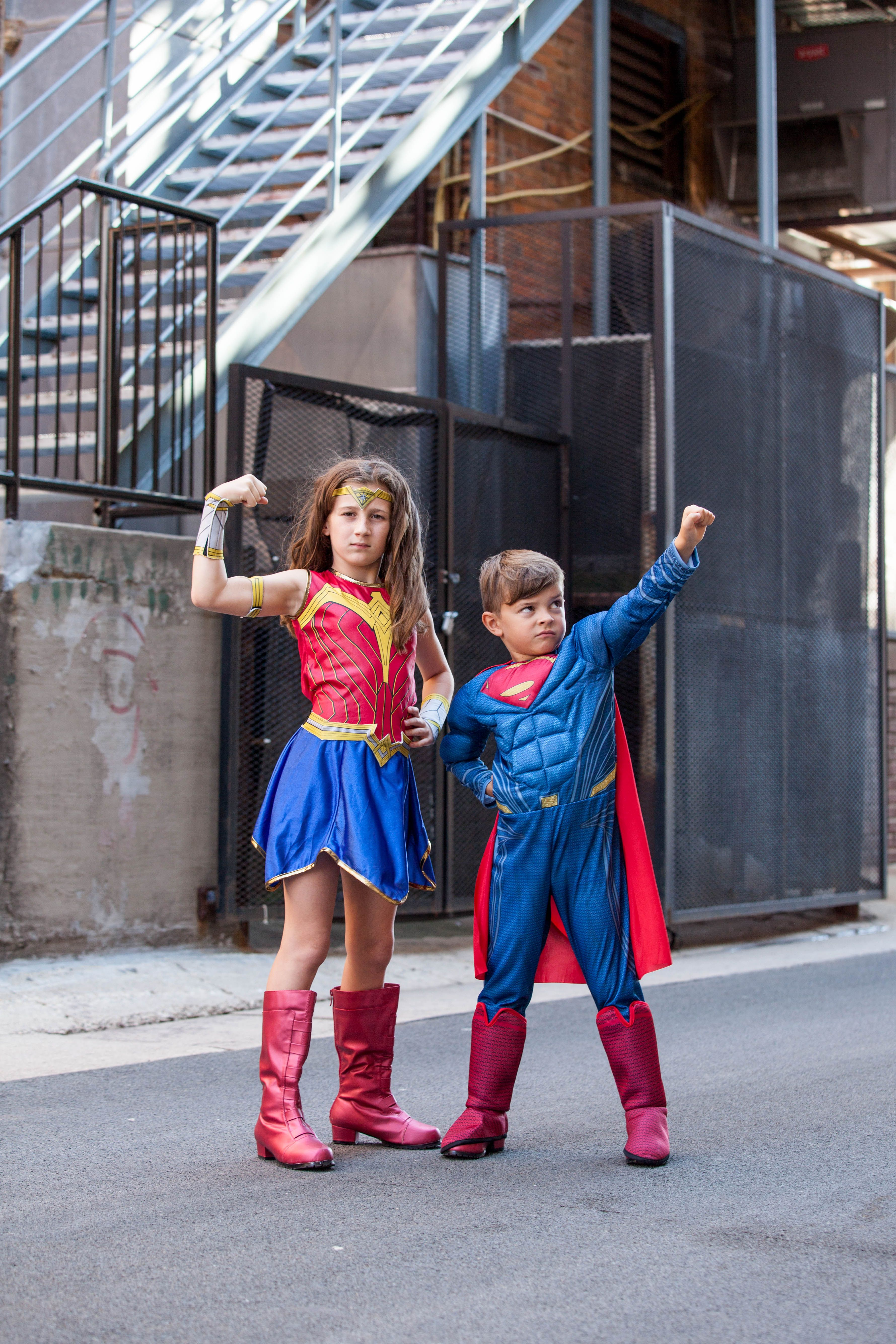 cute kids halloween costume ideas defend the neighborhood together pair up as the dynamic - Unique Kids Halloween Costume