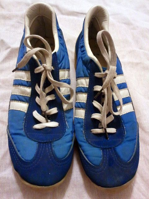 Vintage Rare USA Bata Adidas tennis shoes SNEAKERS blue women 7 ...