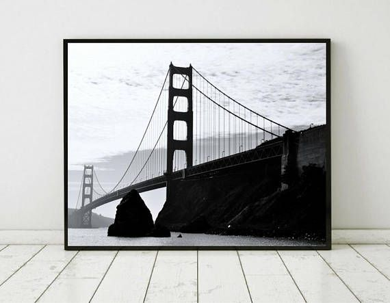 Golden gate print golden gate poster san francisco print golden gate bridge san francisco bridge golden gate photo golden gate decor prints