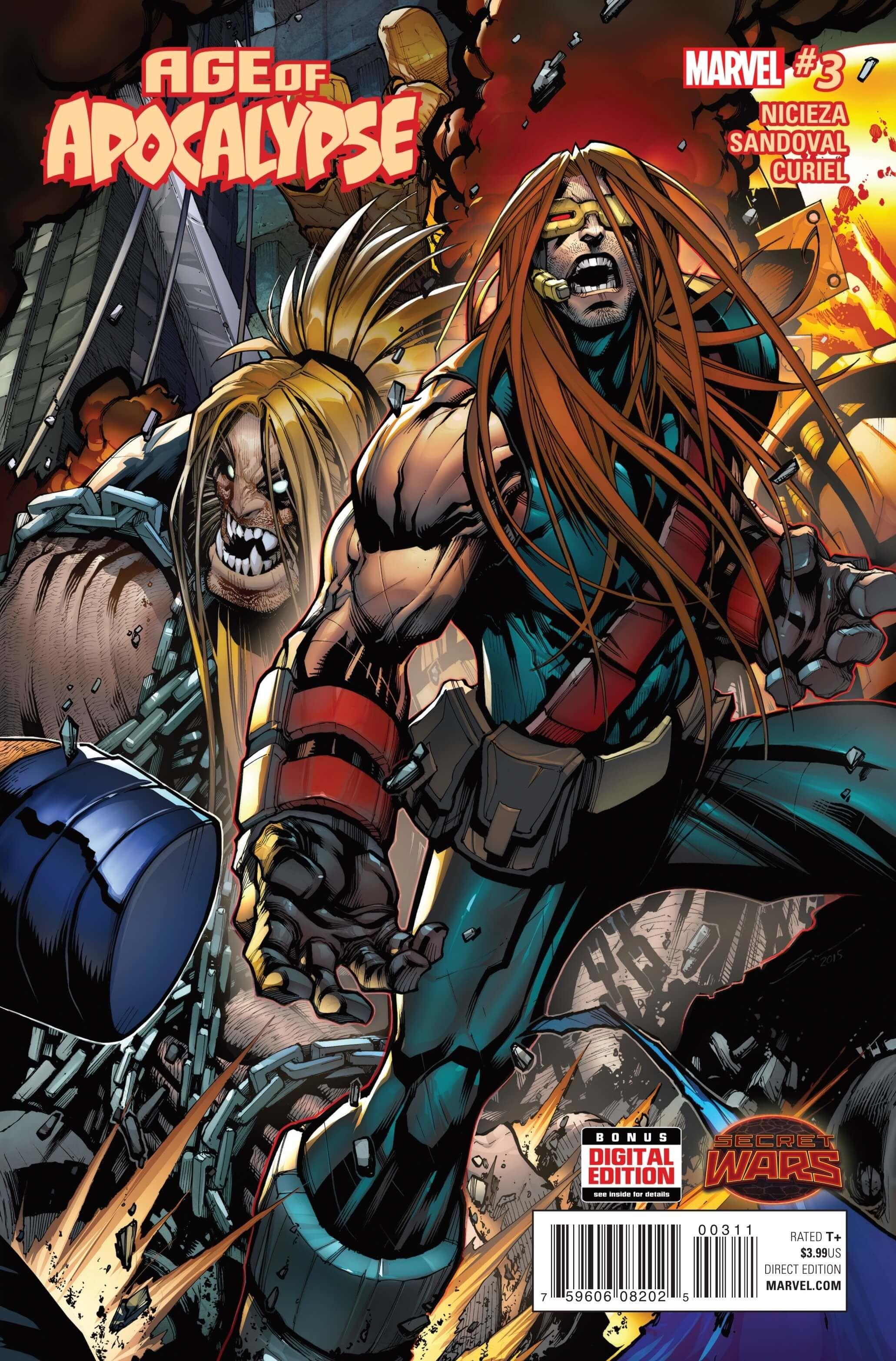 Preview: Age of Apocalypse #3, Age of Apocalypse #3 Story: Fabian Nicieza  Art: Gerardo Sandoval Covers: Gerardo Sandoval, Robbi Rodriguez & Marte  Gracia ...