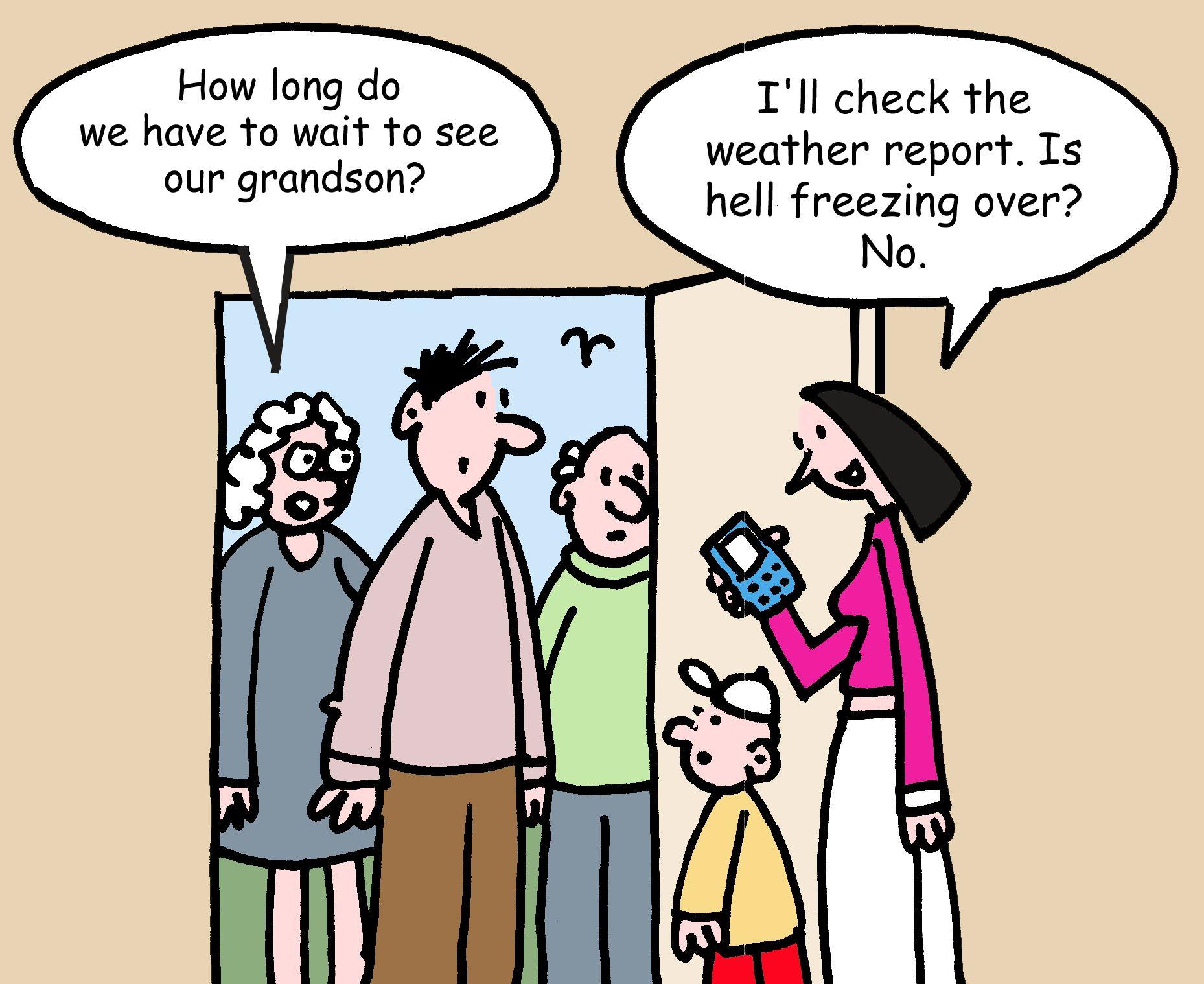 Child visitation | Family Court Cartoons | Child custody ...