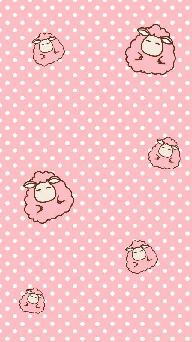 Sheep Pattern Cute Wallpapers Phone Wallpaper Backgrounds Iphone 6 Mobile