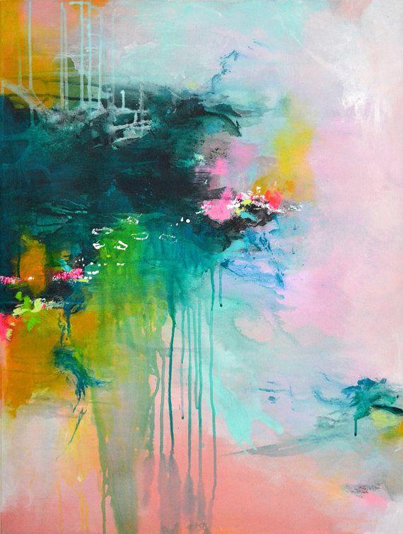 Original fine art abstract painting modern art by ARTbyKirsten - küchenfronten neu beschichten