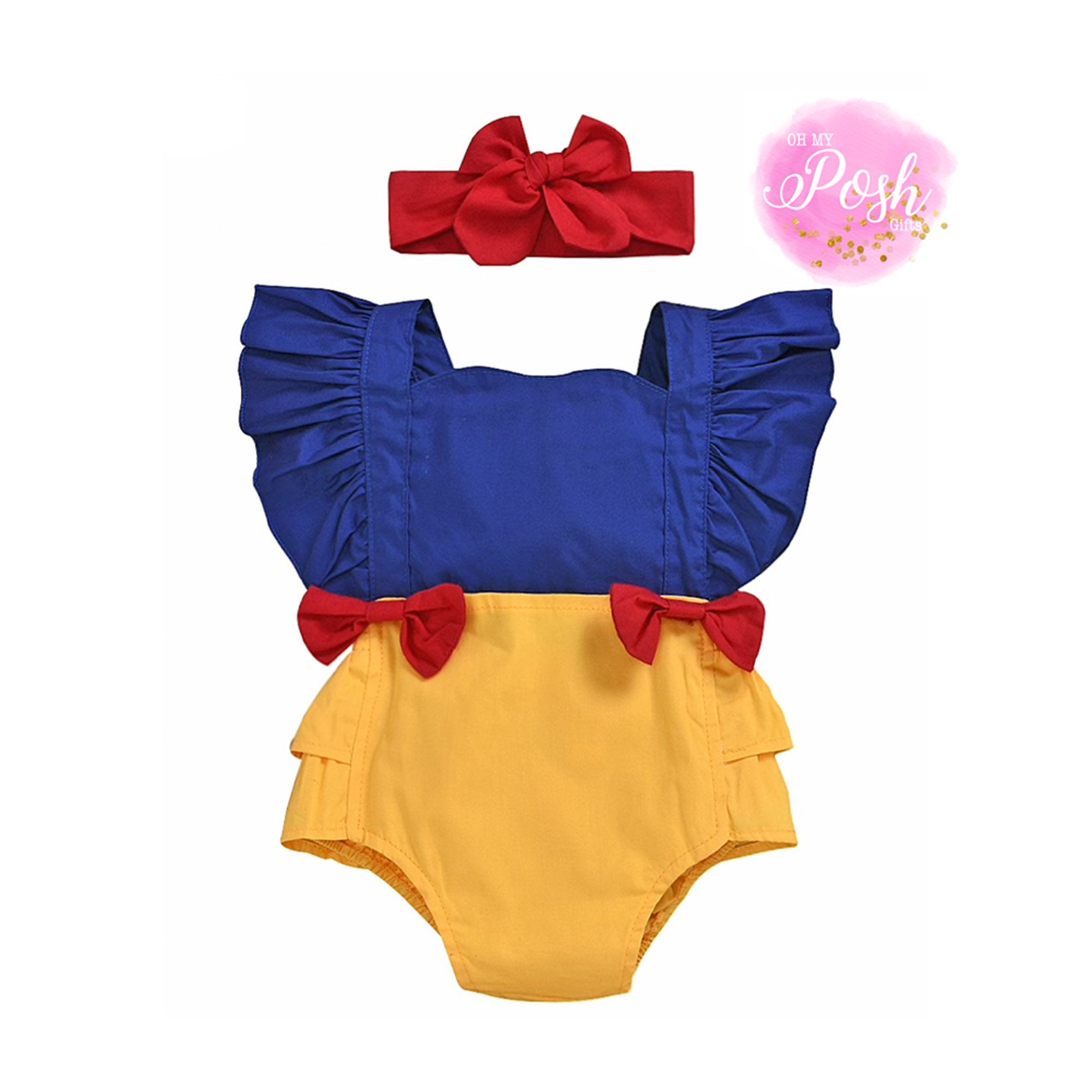 Newborn Snow White and the Seven Dwarfs romper Baby Lock mameluk bodysuit Snow White Baby Romper