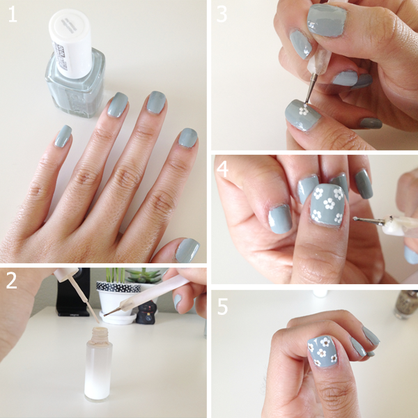 Within Color Easy Peasy Flower Nail Art Tutorial