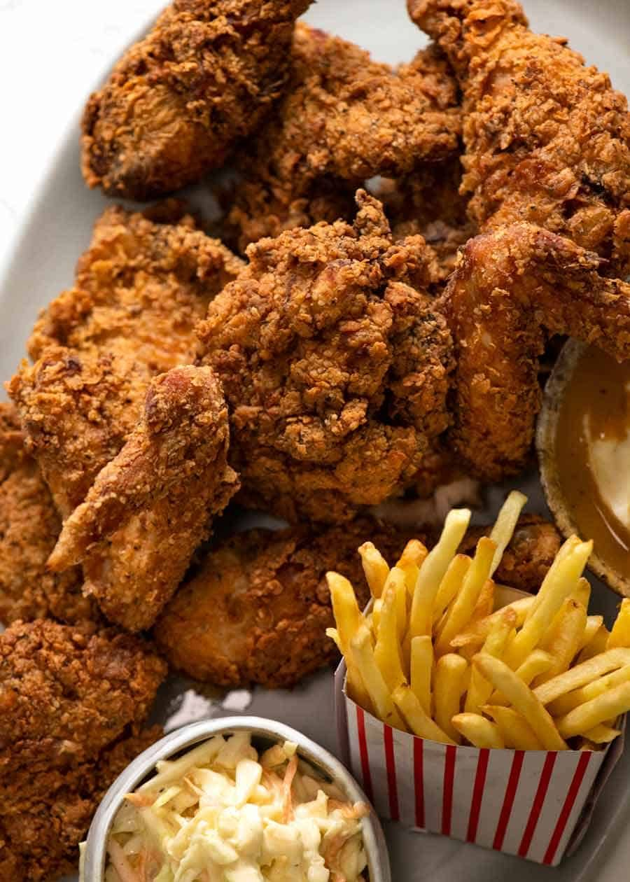 Fried Chicken Recipe Fried Chicken Recipe For Kentucky Fried Chicken Recipetin Eats