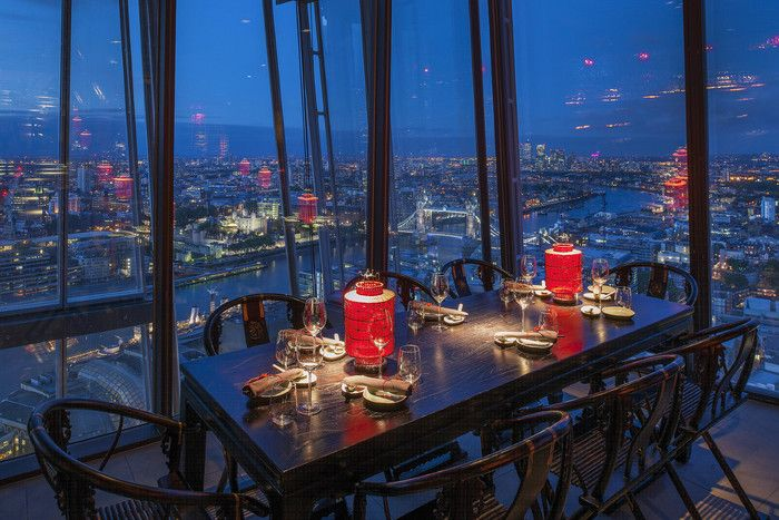 Hutong shard chinese restaurant london lighting scheme
