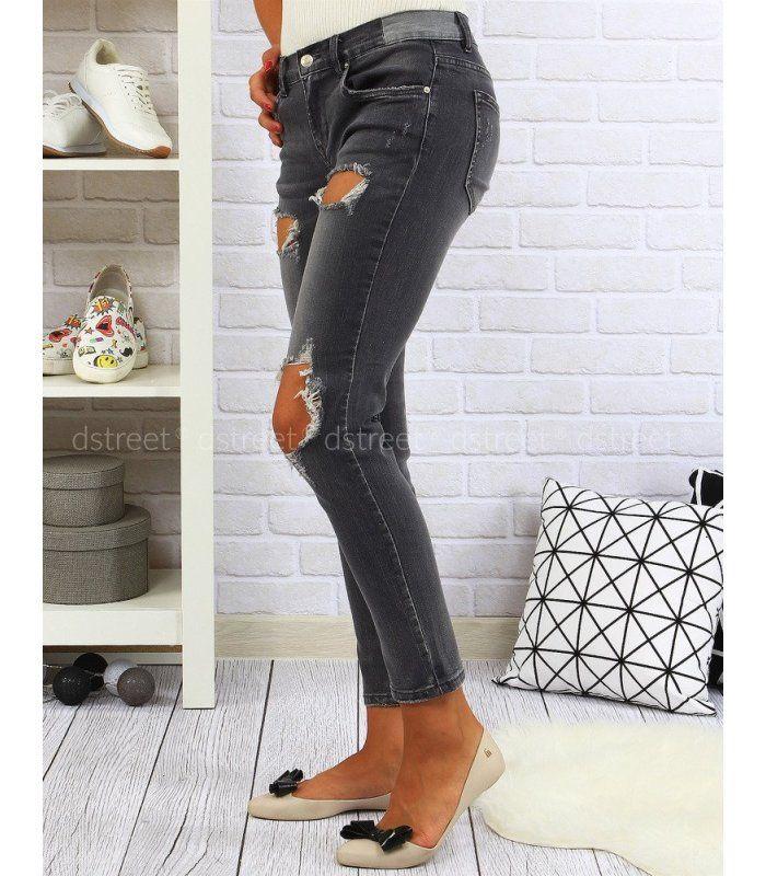 e87e977ef27d Dámske džínsové šedé nohavice