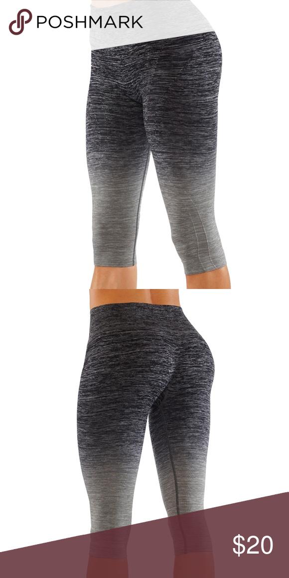 ca8971e294 Ombre printed leggings yoga pants Capri Four-Way Stretch: Keeps its  shape.Blended