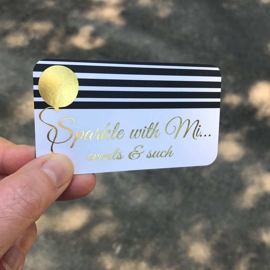 "Gold Foil Business Cards ""Gold foil + black and white stripes ..."