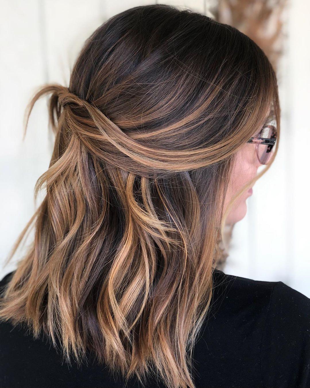 hair color ideas for brunettes #color #ideas #brunettes #caramel hair color ide…