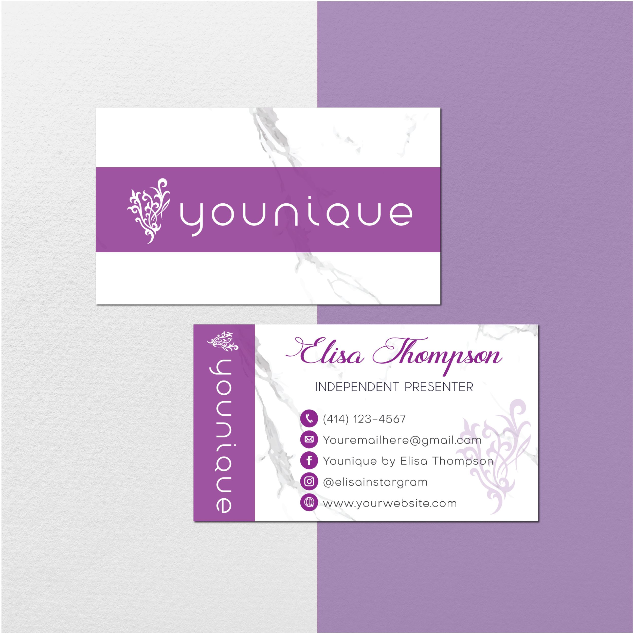 Marble Personalized Younique Business Cards Younique Printable Cards Custom Business Card Younique Business Cards Yq18 Younique Business Cards Younique Business Custom Business Cards