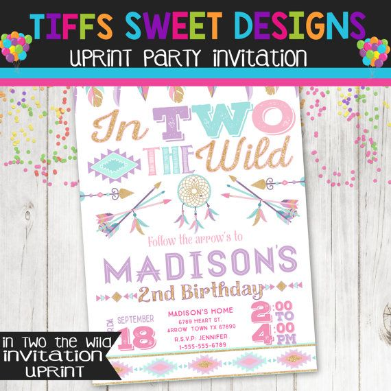 In two the wild birthday party invitation boho dream catcher in two the wild birthday party invitation by tiffssweetdesigns filmwisefo Images