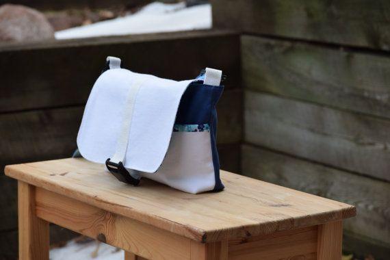 Kid  Toddler Messenger Bag  White Denim by ThePierMarket on Etsy