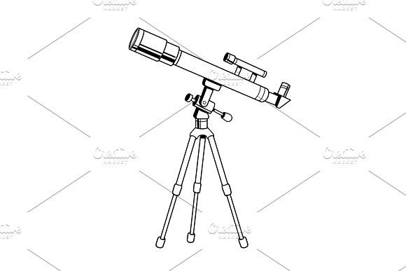 Download Telescope object coloring book vector | Coloring books, Comic book style, Color