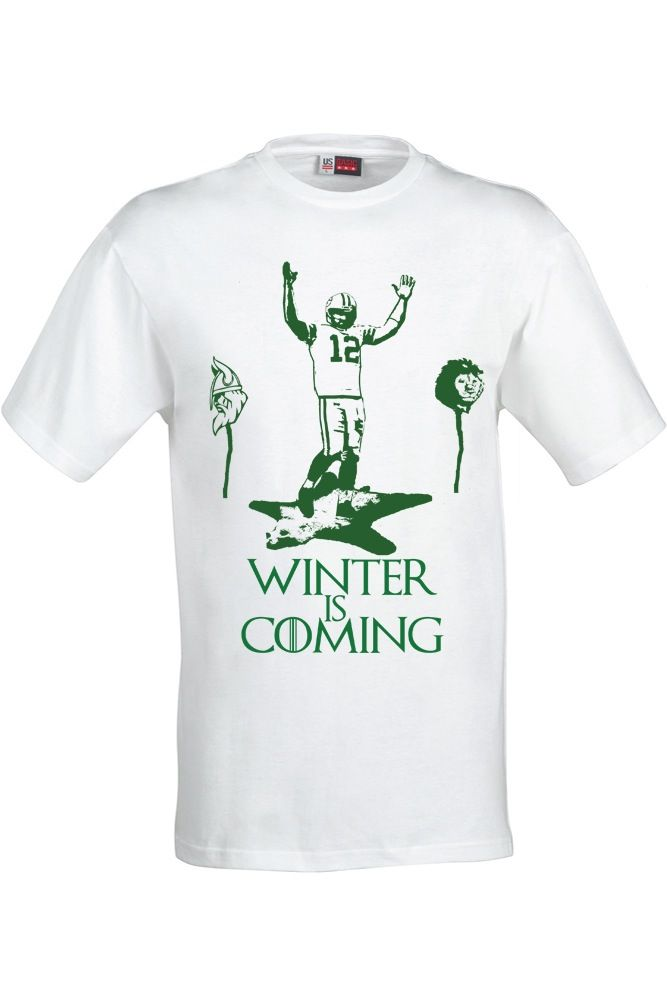 Image of Green Bay Packers Aaron Rodgers Winter is Coming Game of Thrones  unisex t-shirt b1ebb9e5f